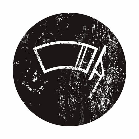 windshield wiper: Vector illustration of modern auto repair icon