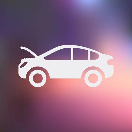 Ilustracja wektora nowoczesnych ikonę naprawy samochodów Ilustracje wektorowe