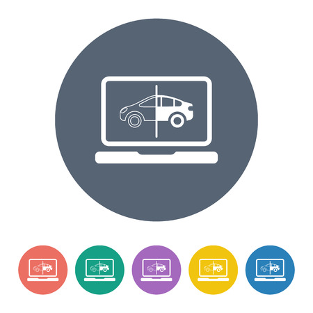 troubleshooting: Vector illustration of modern auto repair icon
