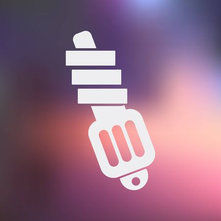 motor car candles: Vector illustration of modern auto repair icon