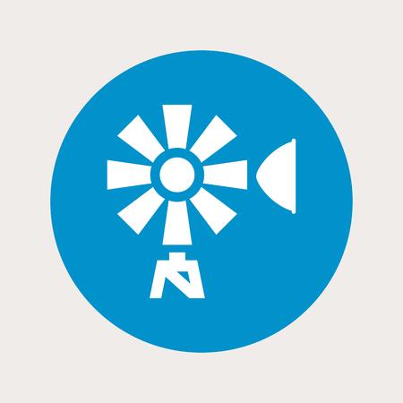 windy energy: Vector illustration of modern farm icon