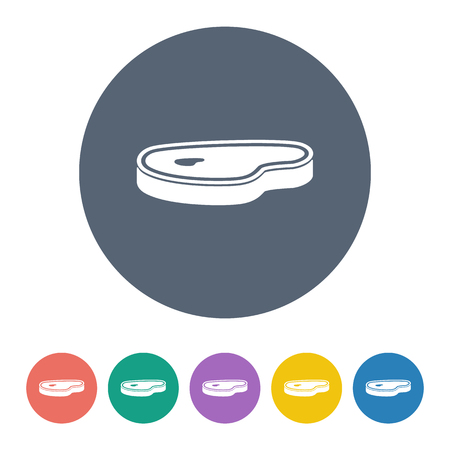 c�telette de porc: Vector illustration de l'ic�ne de la nourriture Illustration