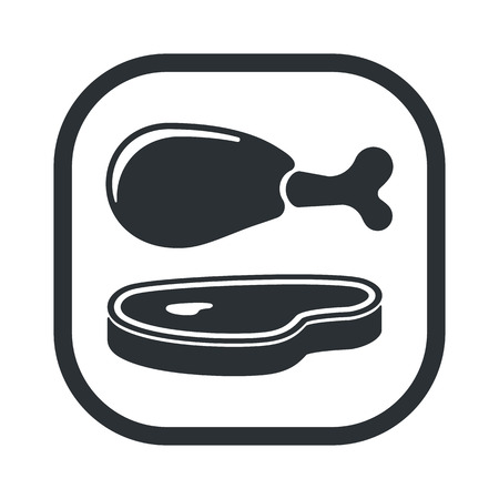 roast lamb: Vector illustration of food icon