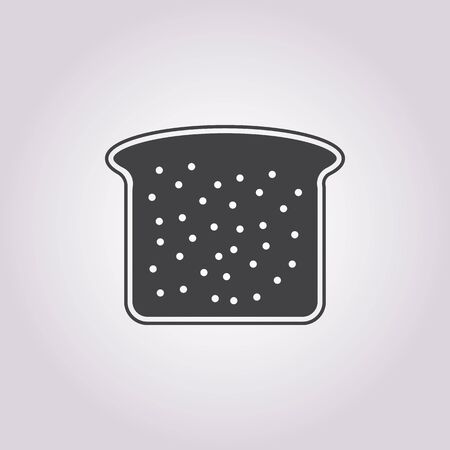 french toast: Vector illustration of food icon