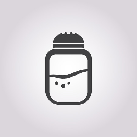 pepper grinder: Vector illustration of food icon