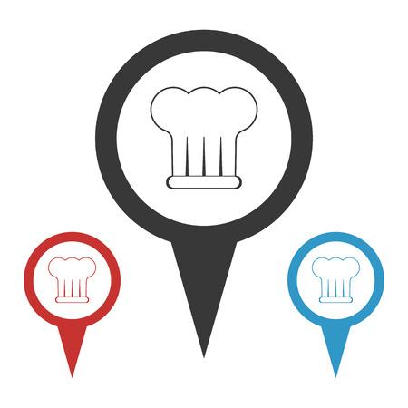 fine cuisine: Vector illustration of food icon