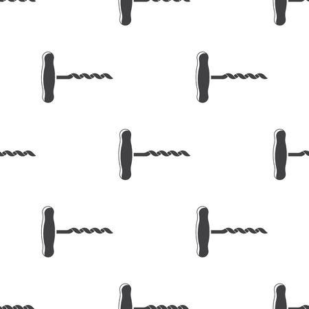cork screw: Vector illustration of food icon