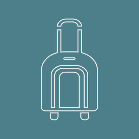 trolley case: Vector illustration of travel and vacation icons