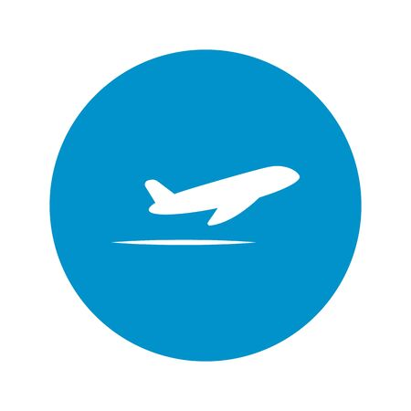 commercial airline: Vector illustration of travel and vacation icons
