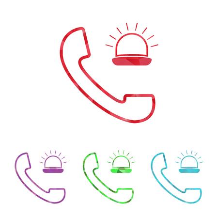 dr: illustration of modern b lack call icon an ambulance