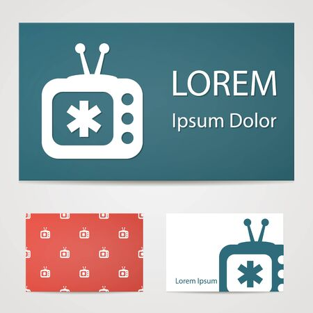 channel: illustration of modern b lack icon medical tv