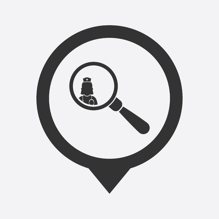 malady: illustration of modern b lack icon doctor