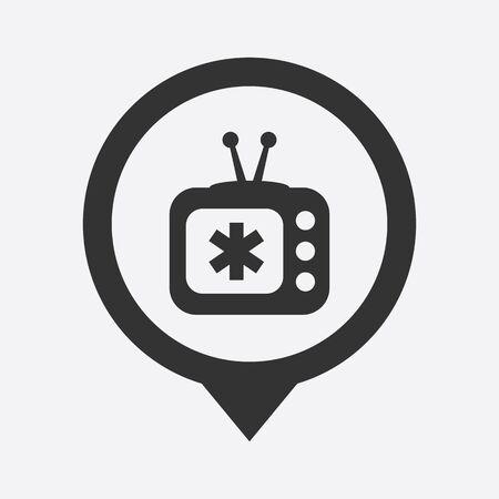 show case: illustration of modern b lack icon medical tv
