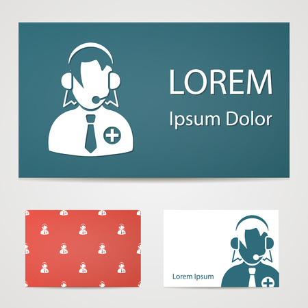 dispatcher: illustration of modern b lack icon dispatcher