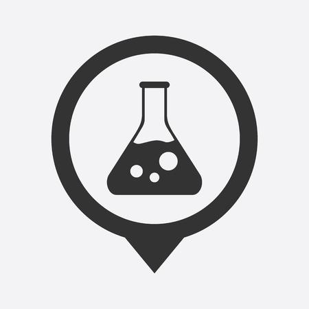 drug discovery: illustration of modern b lack icon test-tube