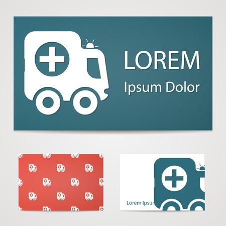 lack: illustration of modern b lack icon ambulance