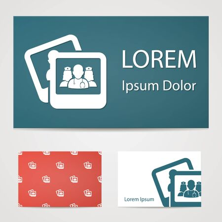 personnel: illustration of modern b lack icon personnel medical