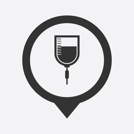flue: illustration of modern b lack icon syringe