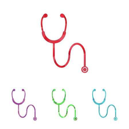 stethascope: illustration of modern b lack icon stethoscope