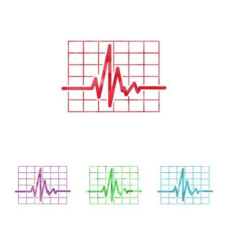 oscilloscope: illustration of modern b lack icon pulse