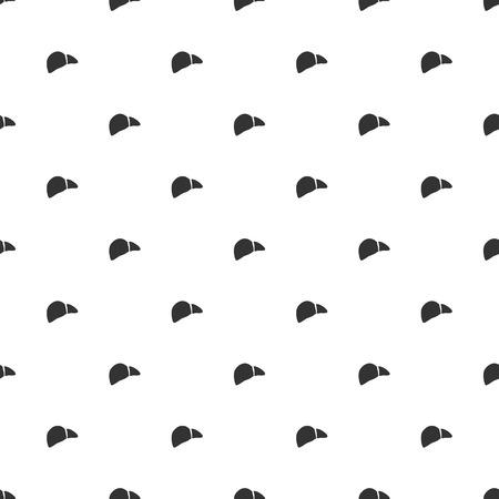 lack: illustration of modern b lack icon liver
