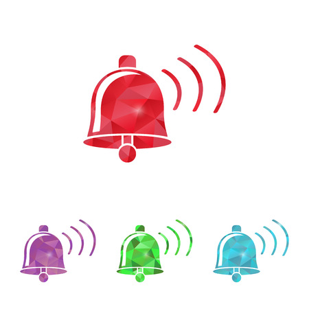 ring tones: illustration of modern b lack icon bell Illustration