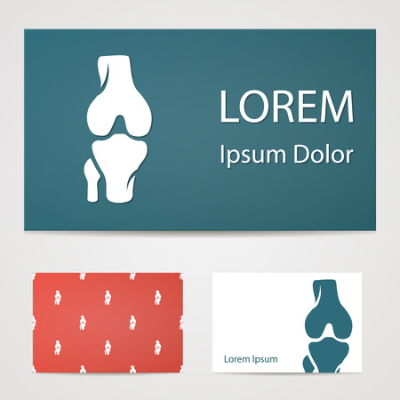 femur: illustration of modern b lack icon bone Illustration
