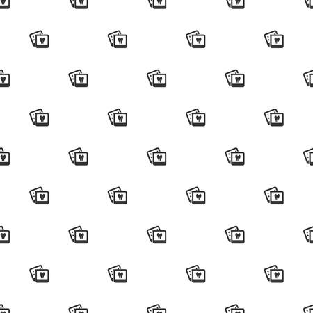 lack: illustration of modern b lack icon teeth Illustration
