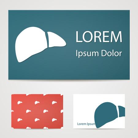 bile: illustration of modern b lack icon liver