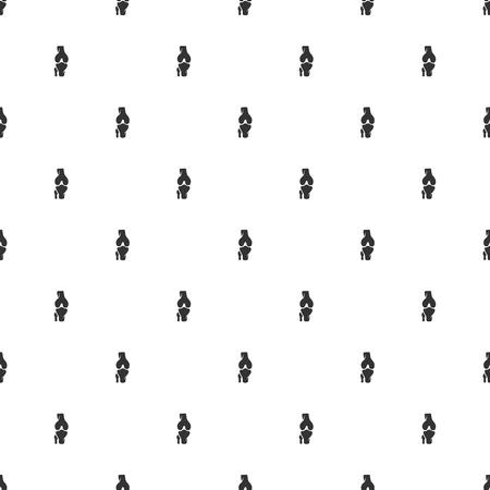 tibia: illustration of modern b lack icon bone Illustration