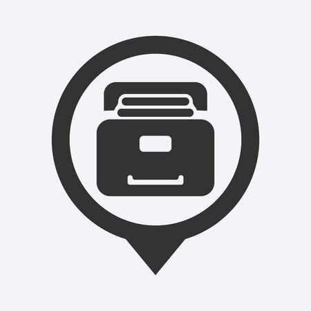protected database: ilustraci�n de la oficina icono de dise�o moderno