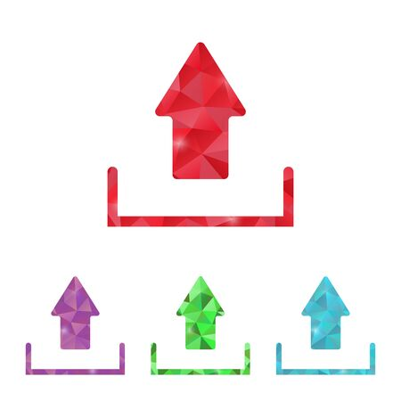 uploading: illustrazione di ufficio moderno icona del design Vettoriali