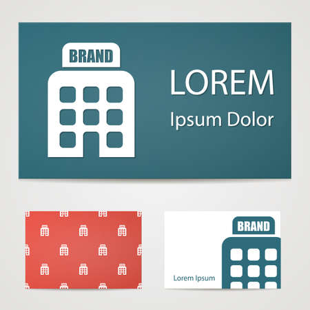 headquarter: illustration of office modern icon in design