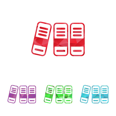 retain: illustration of office modern icon in design