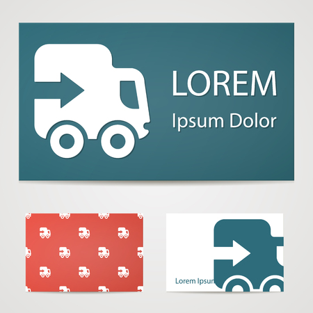 express: illustration of modern silhouette icon express service Illustration