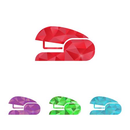stapling: illustration of office modern icon in design