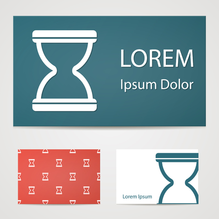 hourglass: illustration of office modern icon in design