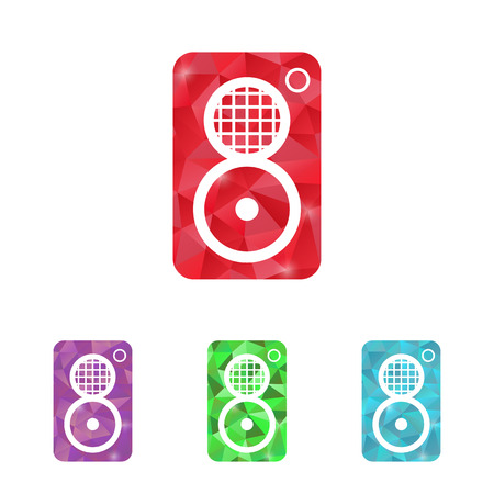boombox: illustration of modern b lack icon subwoofer Illustration