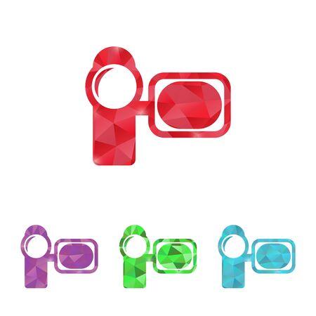 camcorder: illustration of modern b lack icon camcorder