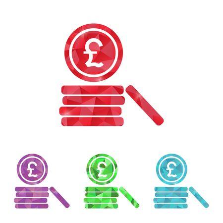 sterlina: illustrazione del business e della finanza monete icona sterlina Vettoriali