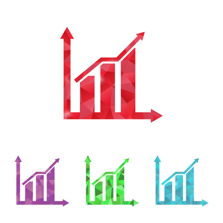 increment: illustration of business and finance icon graph