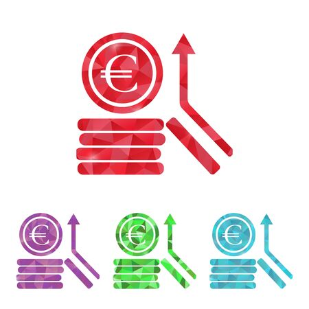 euro coins: illustration of business and finance icon euro coins