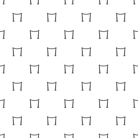 prestige:  illustration of modern b lack icon red carpet Illustration