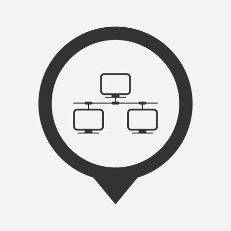global settings: illustration of modern b lack icon network Illustration
