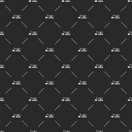 lack: illustration of modern b lack icon monitor