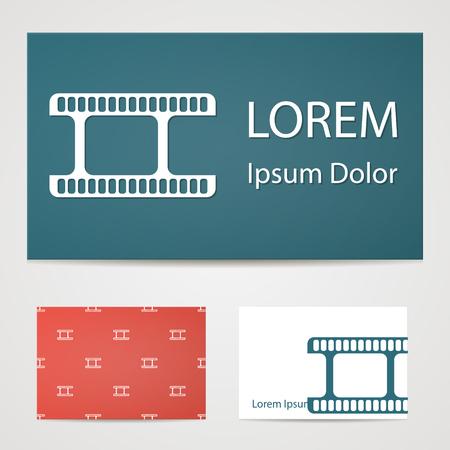 foto: illustration of modern b lack icon frame cinema