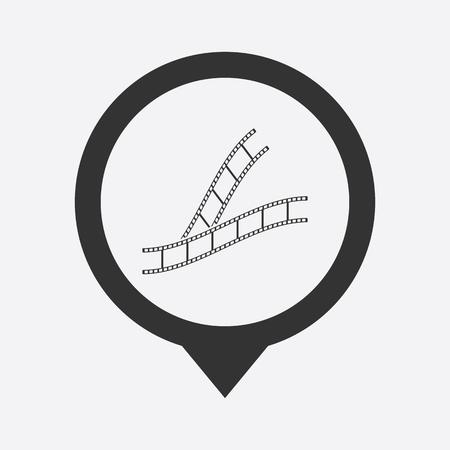 photo real: illustration of modern icon frame cinema Illustration