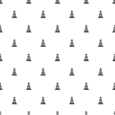 dead end: illustration of modern b lack icon traffic cone
