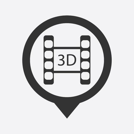 photo slide: illustration of modern icon frame cinema Illustration