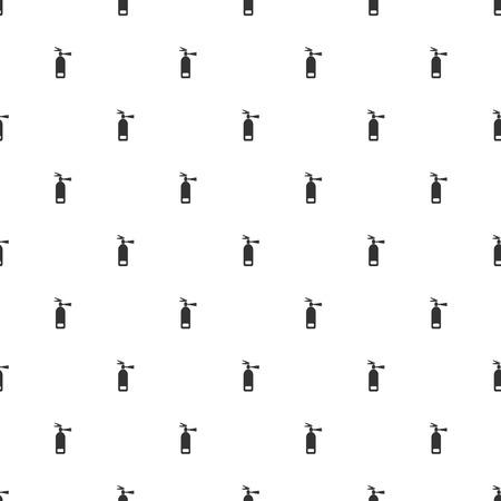 foam safe: illustration of modern b lack icon fire extinguisher